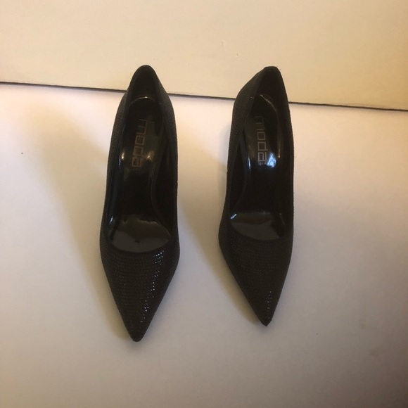 "Moda Spana Black High heels 4"" Size 7m Women's"